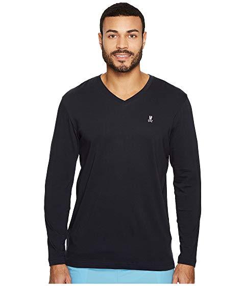 PSYCHO BUNNY ブイネック スリーブ Tシャツ メンズファッション トップス カットソー メンズ 【 V-neck Long Sleeve T-shirt 】 Navy