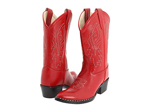OLD WEST KIDS BOOTS ブーツ キッズ ベビー マタニティ ジュニア 【 J Toe Western Boot (toddler/little Kid) 】 Red