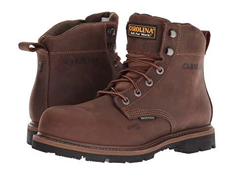 """【★スーパーセール中★ 6/11深夜2時迄】カロライナ CAROLINA ブーツ 6"""" メンズ 【 6"""" Waterproof Work Boot Ca9536 】 Mohawk Rw/brown Leather Upper"""