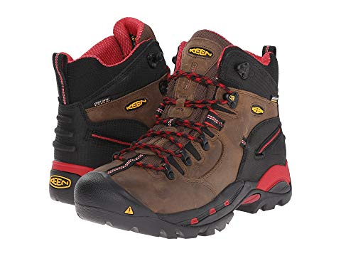 KEEN UTILITY ピッツバーグ ブーツ 赤 レッド 【 RED KEEN UTILITY PITTSBURGH BOOT BISON 】 メンズ ブーツ
