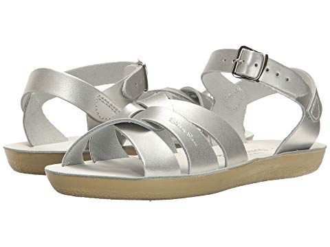 SALT WATER SANDAL BY HOY SHOES 【 SWIMMER TODDLER LITTLE KID SILVER 】 キッズ ベビー マタニティ 送料無料
