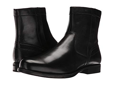 【NeaYearSALE1/1-1/5】FLORSHEIM 【 MIDTOWN PLAIN TOE ZIP BOOT BLACK SMOOTH 】 メンズ ブーツ 送料無料