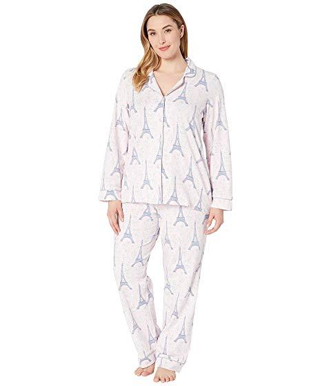 BEDHEAD PAJAMAS スリーブ クラシック インナー 下着 ナイトウエア レディース ナイト ルーム パジャマ 【 Plus Size Long Sleeve Classic Notch Collar Pajama Set 】 Colette's Eiffel