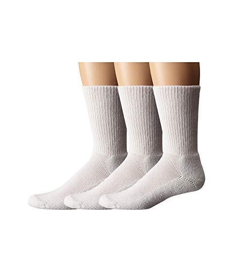 THORLOS インナー 下着 ナイトウエア ユニセックス 下 レッグ 【 Uniform Crew 3-pair Pack 】 White