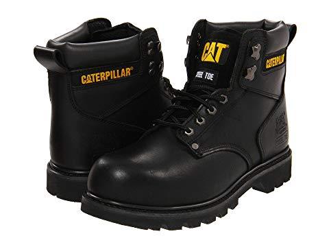 キャタピラー CATERPILLAR 銀色 スチール 黒 ブラック 【 BLACK CATERPILLAR 2ND SHIFT STEEL TOE FULL GRAIN 】 メンズ ブーツ