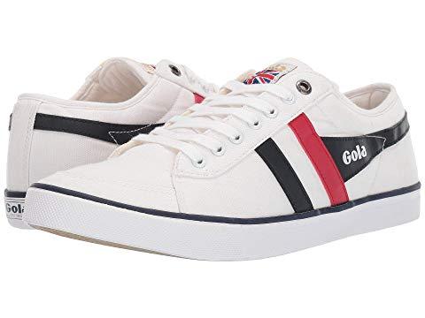 GOLA 白 ホワイト 赤 レッド 紺 ネイビー スニーカー 【 WHITE RED NAVY GOLA COMET 】 メンズ スニーカー