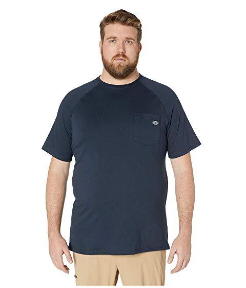 ディッキーズ DICKIES パフォーマンス Tシャツ メンズファッション トップス カットソー メンズ 【 Big And Tall Temp-iq Performance Cooling Tee 】 Dark Navy
