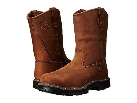 【★スーパーセール中★ 6/11深夜2時迄】WOLVERINE 銀色 スチール Multishox? メンズ ブーツ 【 Marauder Multishox? Waterproof Steel Toe 】 Brown