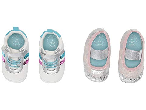 ROBEEZ レディース + キッズ ベビー マタニティ ジュニア 【 Womens Ro + Me Sequin Athletic/glitter Mj 2-pack (infant/toddler) 】 Aqua/pink