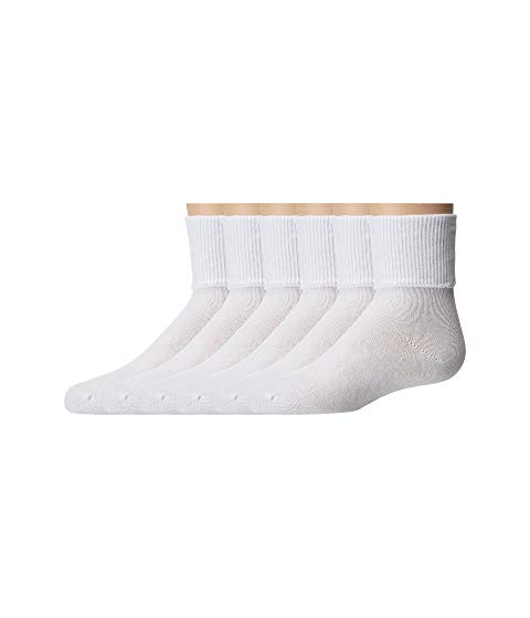 JEFFERIES SOCKS キッズ ベビー マタニティ 下 ジュニア 【 Turncuff 6 Pair Pack (infant/toddler/little Kid/big Kid/adult) 】 White
