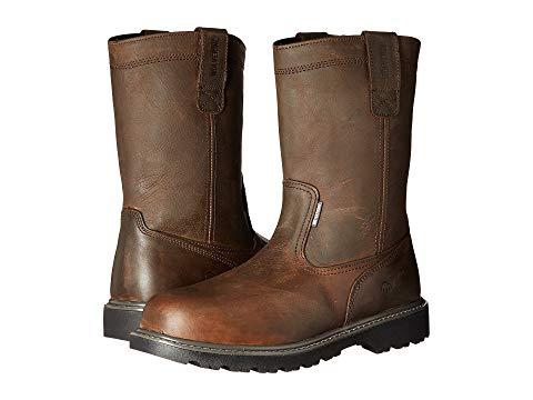 """【★スーパーセール中★ 6/11深夜2時迄】WOLVERINE 銀色 スチール 10"""" メンズ ブーツ 【 Floorhand Welly 10"""" Steel Toe 】 Dark Brown"""