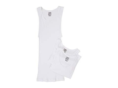 JOCKEY 白 ホワイト 【 WHITE JOCKEY COTTON ASHIRT 3PACK 】 メンズファッション トップス カジュアルシャツ