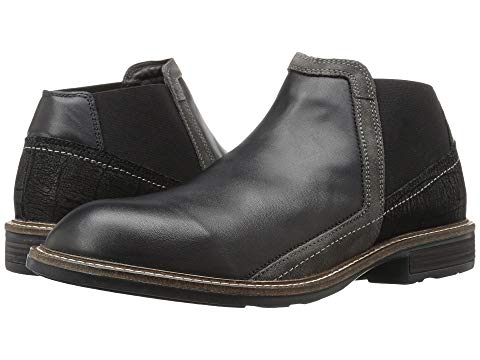 【NeaYearSALE1/1-1/5】NAOT 【 BUSINESS BLACK RAVEN LEATHER CRACKLE GRAY SUEDE 】 メンズ ブーツ 送料無料