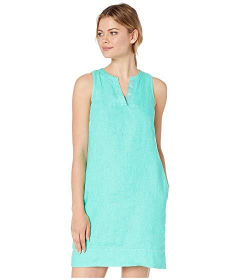 TOMMY BAHAMA ドレス 【 TOMMY BAHAMA SEAGLASS LINEN SHIFT DRESS SEAPORT TEAL 】 レディースファッション ワンピース