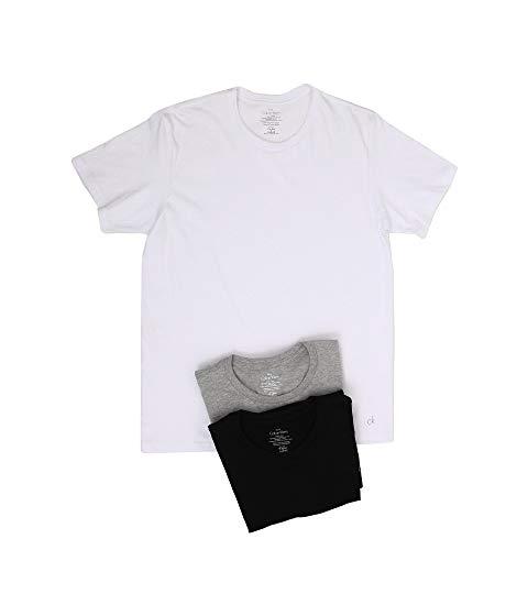 カルバンクラインアンダーウエア CALVIN KLEIN UNDERWEAR クラシック 半袖 Tシャツ 白 ホワイト 黒 ブラック 灰色 グレ 【 WHITE BLACK CALVIN KLEIN UNDERWEAR COTTON CLASSIC S CREW 3PACK U4001 GREY 】 メンズファ