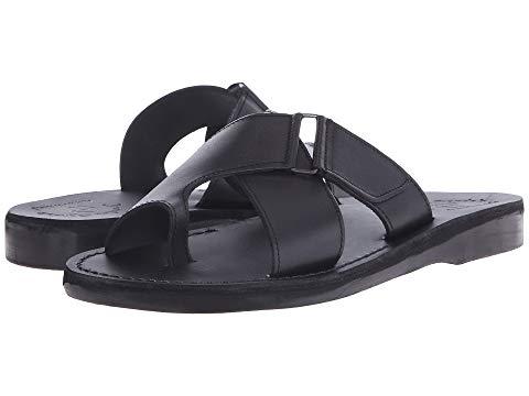 JERUSALEM SANDALS メンズ 黒 ブラック 【 BLACK JERUSALEM SANDALS ASHER MENS 】 メンズ サンダル コンフォートサンダル