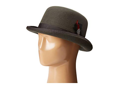 SCALA チャコール 【 SCALA WOOL FELT DERBY HAT WITH GROSGRAIN TRIM CHARCOAL 】 バッグ  キャップ 帽子 メンズキャップ 帽子