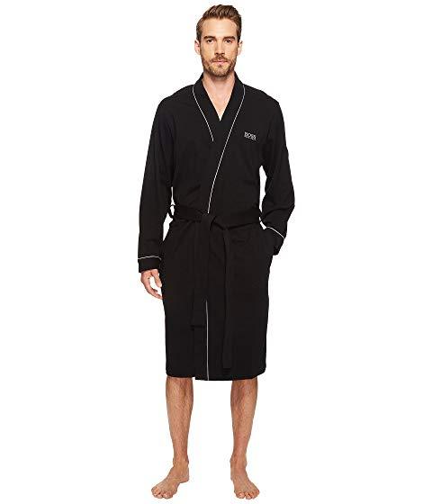 ボスヒューゴボス BOSS HUGO BOSS インナー 下着 ナイトウエア メンズ ナイト ルーム 【 Innovation 1 Cotton Kimono Robe 】 Black