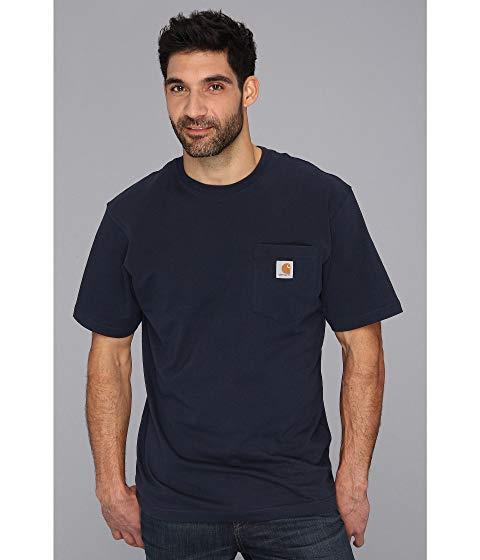 カーハート CARHARTT 半袖 Tシャツ 紺 ネイビー 【 NAVY CARHARTT WORKWEAR POCKET S TEE TALL 】 メンズファッション トップス Tシャツ カットソー