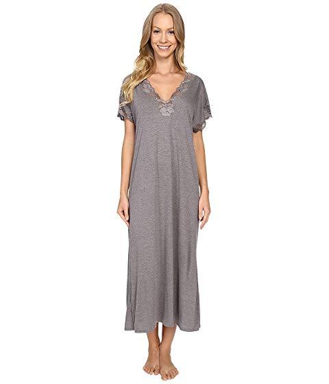 NATORI インナー 下着 ナイトウエア レディース ナイト ルーム パジャマ 【 Zen Floral Nightgown 】 Heather Grey