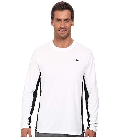 SPEEDO スリーブ Tシャツ 白 ホワイト 【 SLEEVE WHITE SPEEDO LONGVIEW LONG SWIM TEE 】 メンズファッション 水着