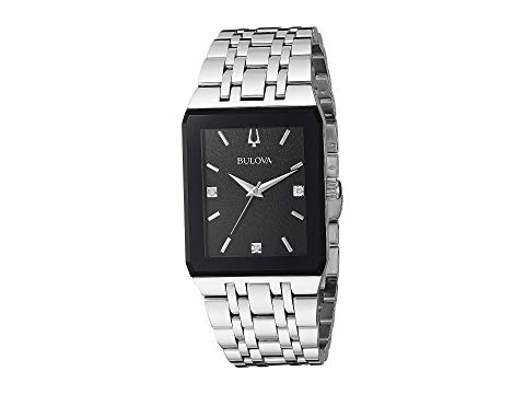 ブローバ BULOVA 銀色 スチール 【 BULOVA QUADRA 96D145 STEEL 】 腕時計 レディース腕時計