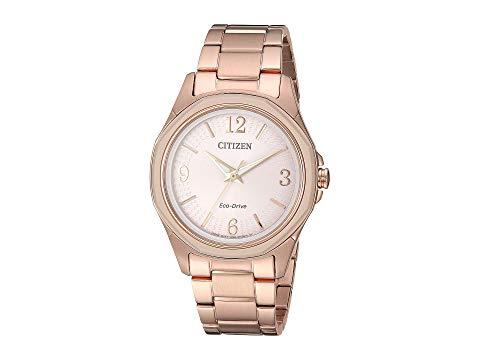 シチズンウオッチ CITIZEN WATCHES ピンク 金色 ゴールド 【 PINK CITIZEN WATCHES FE705351X DRIVE GOLD TONE 】 腕時計 レディース腕時計