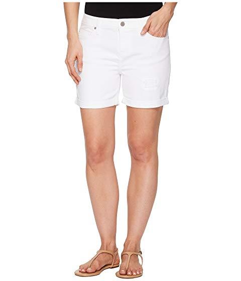 LIVERPOOL ショーツ ハーフパンツ デニム 白 ホワイト 【 WHITE LIVERPOOL VICKIE SHORTS WITH DESTRUCT IN COMFORT STRETCH DENIM BRIGHT 】 メンズファッション ズボン パンツ