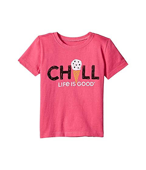 LIFE IS GOOD KIDS Tシャツ CRUSHER? 【 CHILL CONE TEE TODDLER FIESTA PINK 】 キッズ ベビー マタニティ トップス 送料無料