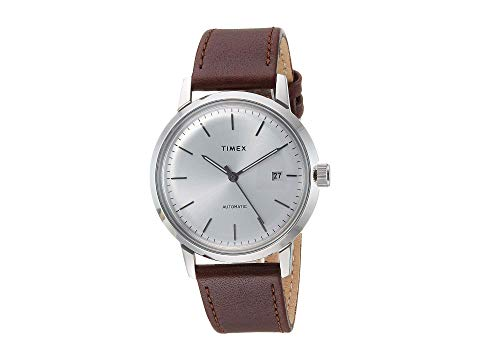 TIMEX タイメックス 茶 ブラウン 銀色 シルバー 【 BROWN SILVER TIMEX MARLIN AUTOMATIC 】 腕時計 メンズ腕時計