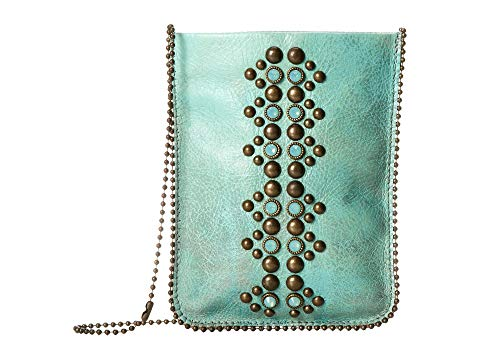 LEATHEROCK バッグ レディース 【 Cell Pouch/crossbody 】 Turquoise/amber