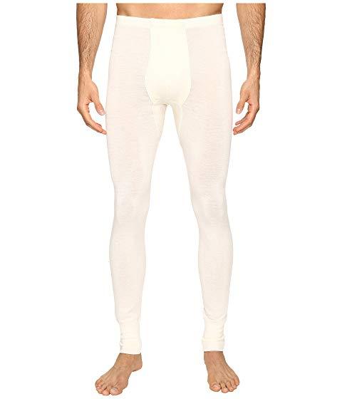 HANRO インナー 下着 ナイトウエア メンズ ナイト ルーム 【 Woolen Silk Long Underwear 】 Cygne