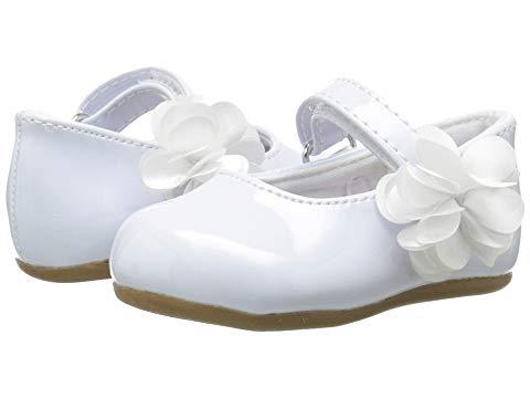 【スーパーセール中! 6/11深夜2時迄】ベイビーディア BABY DEER パテント キッズ ベビー マタニティ ジュニア 【 Patent Skimmer Walker Sole (infant/toddler) 】 White