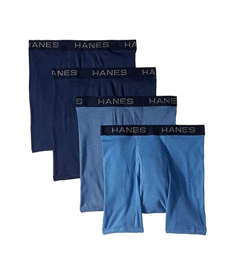 HANES コア プラチナム 【 PLATINUM CORE COTTON BOXER BRIEFS PACK BLUES 】 インナー 下着 ナイトウエア メンズ 送料無料