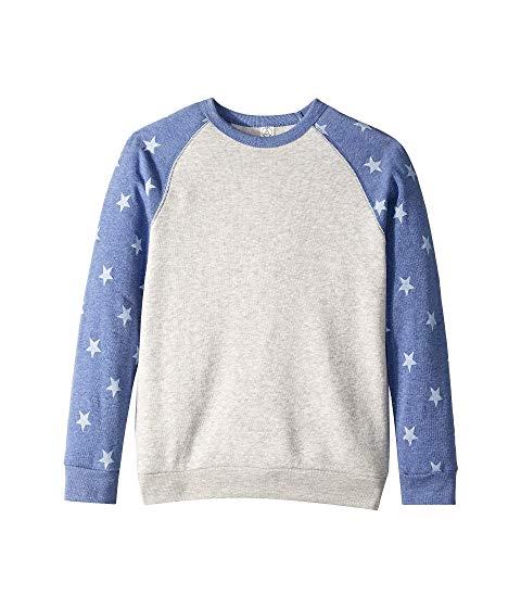 ALTERNATIVE KIDS キッズ ベビー マタニティ トップス Tシャツ ジュニア 【 Champ Printed Eco-fleece Sweatshirt (big Kids) 】 Eco Oatmeal/pacific Blue Stars