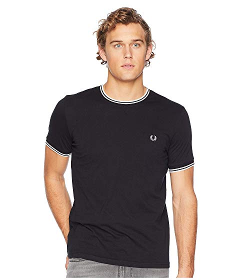 FRED PERRY Tシャツ メンズファッション トップス カットソー メンズ 【 Twin Tipped Ringer T-shirt 】 Black