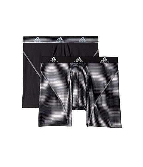 アディダス ADIDAS パフォーマンス グラフィック インナー 下着 ナイトウエア メンズ 【 Sport Performance Climalite Graphic 2-pack Boxer Brief 】 Sundown Black/black/grey