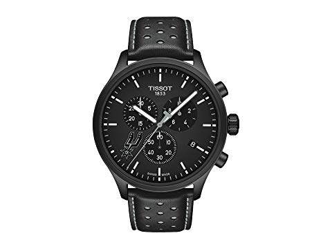 TISSOT スパーズ 黒 ブラック 【 BLACK TISSOT CHRONO XL NBA CHRONOGRAPH SAN ANTONIO SPURS T1166173605104 SILVERED 】 腕時計 メンズ腕時計