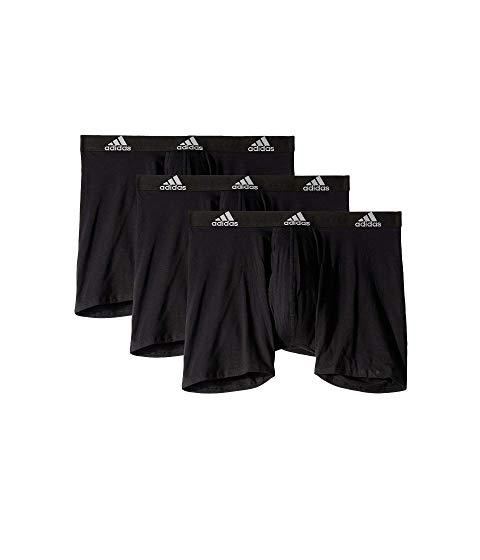 アディダス ADIDAS インナー 下着 ナイトウエア メンズ 【 Stretch Cotton Boxer Brief 3-pack 】 Black/black/black/black/black/black