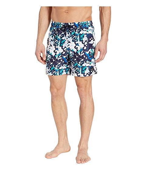 PERRY ELLIS ショーツ ハーフパンツ メンズファッション 水着 メンズ 【 Printed Swim Shorts 】 Dynasty Green