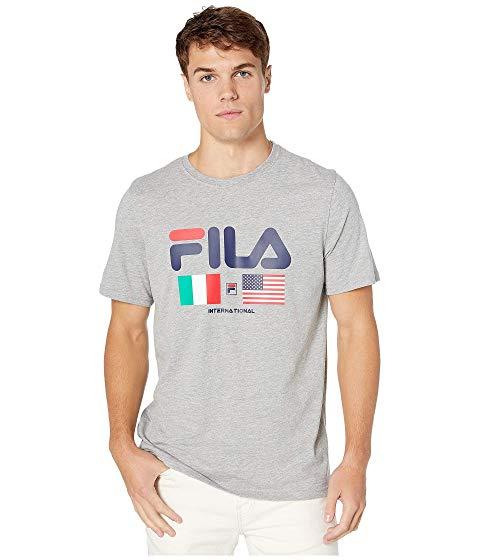 フィラ FILA 【 INTERNATIONAL TEE GREY HEATHER 】 メンズファッション トップス Tシャツ カットソー 送料無料