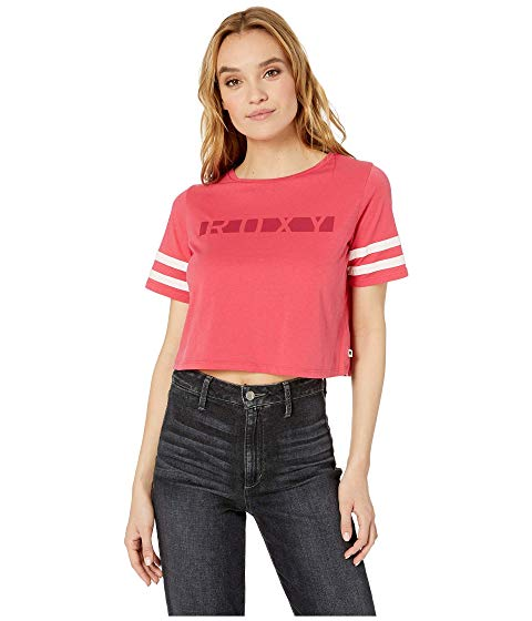 ROXY 【 WONDERING WHY SCREEN TEE BARBERRY 】 レディースファッション トップス Tシャツ カットソー 送料無料