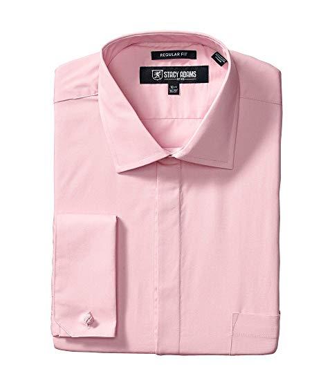 STACY ADAMS アダムス ソリッド ドレス ピンク & 【 PINK STACY ADAMS BIG TALL 39000 SOLID DRESS SHIRT 】 メンズファッション トップス カジュアルシャツ