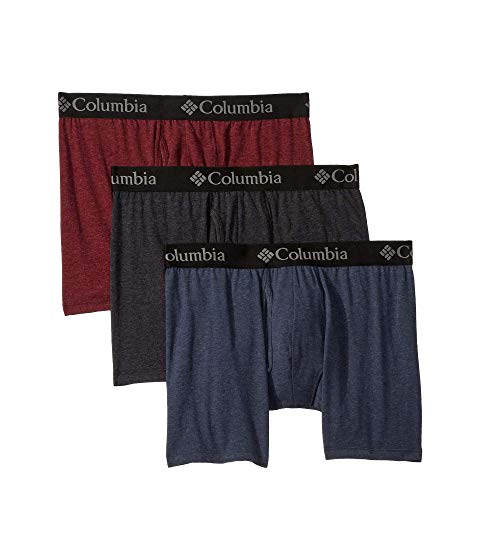コロンビア COLUMBIA パフォーマンス インナー 下着 ナイトウエア メンズ 【 Performance Cotton Stretch Boxer Brief 】 Port Royale/india Ink/black