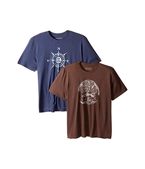 【NeaYearSALE1/1-1/5】LIFE IS GOOD Tシャツ 【 2PACK BACK ROADS TSHIRT BUNDLE MULTI 】 メンズファッション トップス カットソー 送料無料