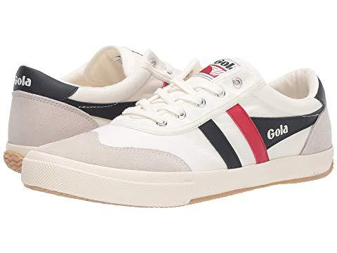 GOLA スニーカー メンズ 【 Badminton 】 Off-white/navy/red