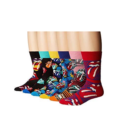 HAPPY SOCKS ボックス インナー 下着 ナイトウエア レディース 下 レッグ 【 Rolling Stones 6-pack Sock Box Set 】 Multi