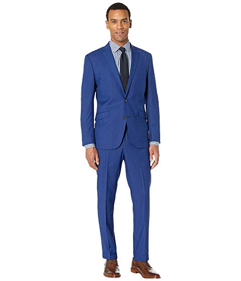 "KENNETH COLE REACTION スリム 32"" メンズファッション スーツ セットアップ メンズ 【 Unlisted Slim Fit Stretch 32"" Finished Bottom Suit 】 Hot Blue"