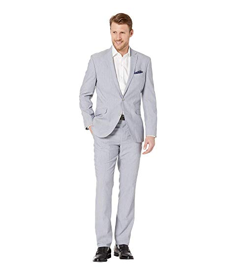KENNETH COLE REACTION スリム パフォーマンス メンズファッション スーツ セットアップ メンズ 【 Sharkskin Slim Fit Stretch Performance Suit 】 Blue