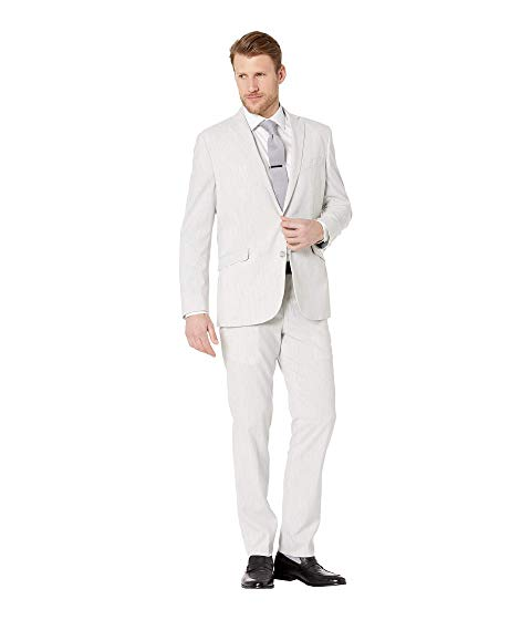 KENNETH COLE REACTION スリム パフォーマンス メンズファッション スーツ セットアップ メンズ 【 Sharkskin Slim Fit Stretch Performance Suit 】 Grey